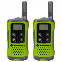 Радиостанция Motorola TLKR-T41 PMR, 446-446.1МГц, 4км, 8 каналов, 3хAAA, 2шт., Green +подарок