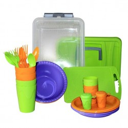 Набор для пикника Следопыт «Weekend» пластик, на 4 персоны, контейнер