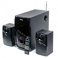 Актив.колонки 2.1 Dialog Progressive AP-225 60Вт, Bluetooth, FM, USB/SD, питание от сети, MDF, Black