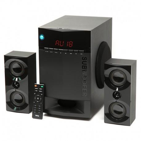 Актив.колонки 2.1 Dialog Progressive AP-230 65Вт, Bluetooth, FM, USB/SD, питание от сети, MDF, Black