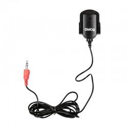 Микрофон Dialog M-100B клипса, конденсаторный, 60дБ, Black