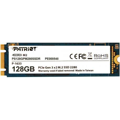 Жесткий диск SSD M.2 128GB Patriot SCORCH PS128GPM280SSDR (Phison,415/1700Mb/s)