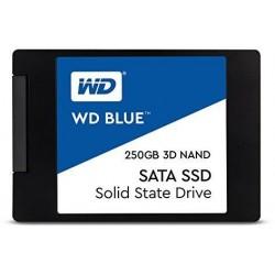 SSD-накопитель 250Гб WD [WDS250G2B0A] (Marvell 88SS1074,TLC 3D NAND,550/525 Мб/с)