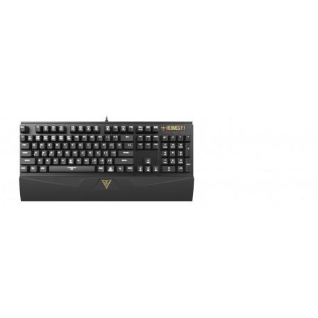 Игровая клавиатура USB Gamdias Hermes P1 механическая, 104 клавиши, подсветка, Black