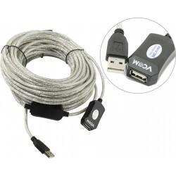 Кабель удлинительный USB2.0 AA 15м VCOM VUS7049 активный