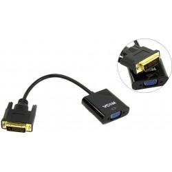 Переходник DVI 24+1(M)-VGA(F) VCOM CG491 длина кабеля 0,2м черный