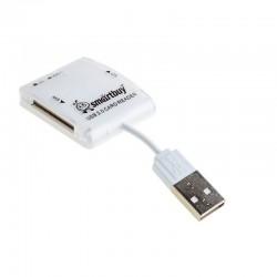 Картридер внешний Smartbuy SBR-713-W белый USB2.0 SD/microSD/MMC/MS
