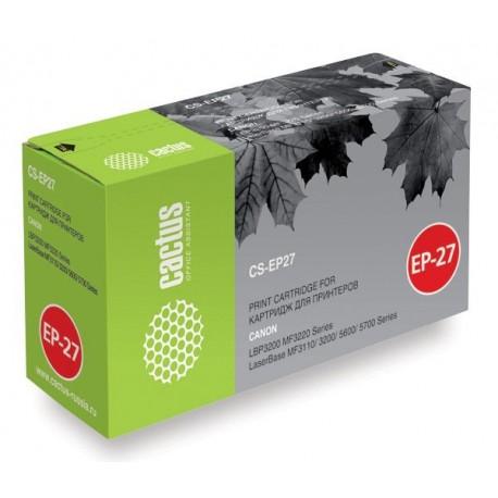 Картридж лазерный CACTUS CS-EP27S для CANON LBP3200,MF3220,MF3110,3200,5600,5700 черный (2700 стр)