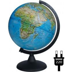 Глобус физико-политический Глобусный мир, 25см, с подсветкой на круглой подставке  10166