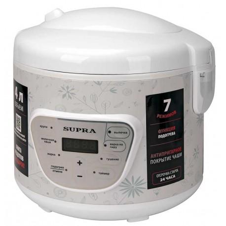 Мультиварка Supra MCS-4704 White 900Вт, 4л, 7 программ