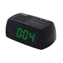 Часы-будильник Supra SA-45FM Black/green 24ч. формат, таймер, 2 режима будильника, FM