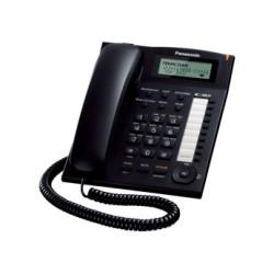 Телефон Panasonic KX-TS2388 RUB (повторн.набор/тон.набор/настен.установка/память-50н/быстр.набор-20кн/АОН/спикерфон/блокировка набора номера/отключение микрофона/удержание линии/дисплей/часы/календарь/разъем гарнитуры)
