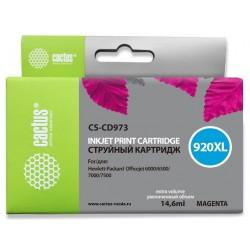 Картридж струйный CACTUS CS-CD973 №920XL для HP Officejet 6000/6500/7000/7500 magenta
