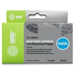 Картридж струйный CACTUS CS-CN045 (№950XL) для HP DJ Pro 8100/8600 Black (73мл)