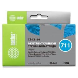 Картридж струйный Cactus CS-CZ130 (№711) для HP DJ T120/T520 Cyan