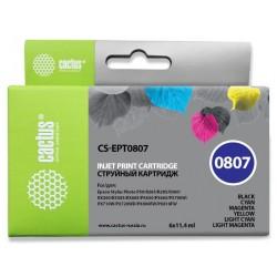 Картридж струйный CACTUS CS-EPT0807 для Epson Stylus Photo P50 Комплект 6 картриджей