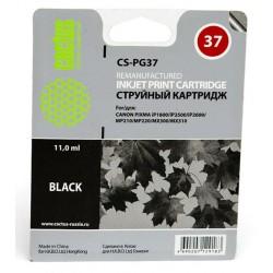 Картридж струйный CACTUS CS-PG37 для Canon Pixma iP1800/iP2500/iP2600 black