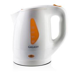 Чайник Galaxy GL 0220 White/orange (900Вт,1л,пластик,закрытая спираль)
