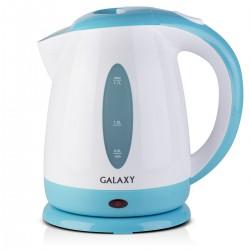 Чайник Galaxy GL 0221 White/blue (2200Вт,1.7л,пластик,закрытая спираль)