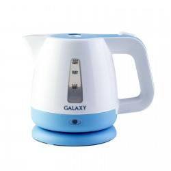 Чайник Galaxy GL 0223 White/blue (900Вт,1л,пластик,закрытая спираль)