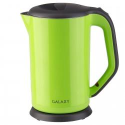Чайник Galaxy GL 0318 Green (2000Вт,1.7л,сталь/пластик,закрытая спираль)