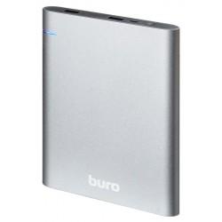 Аккумулятор внешний 21000 mAh Buro RCL-21000 темно-серый 2xUSB 2.1A