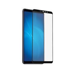 Защитное стекло для Xiaomi Mi Мaх 3 с цветной рамкой (fullscreen) DF xiColor-40 (black)