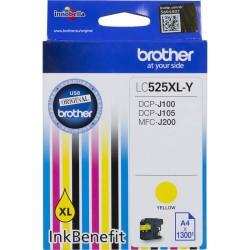 Картридж струйный Brother LC525XLY для DCP-J100/J105/J200 1300стр Yelloy