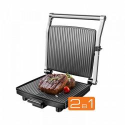 Гриль Redmond RGM-M800 Silver/black 1800Вт, антипригарное покрытие