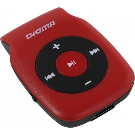 Плеер-MP3 Digma P2 Красный microSD,MP3,клипса