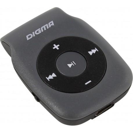 Плеер-MP3 Digma P2 Серый microSD,MP3,клипса