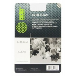 Универсальная промывочная жидкость CACTUS CS-RK-Clean для прочистки картриджей, 2x30мл