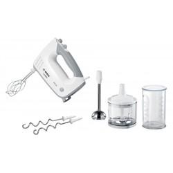 Миксер Bosch MFQ36480 White/grey 450Вт, 5 скоростей, 4 насадки