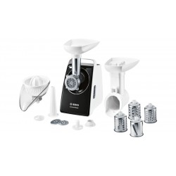 Мясорубка Bosch MFW3850B White/Black (1800Вт,3 насадки,3 решетки)
