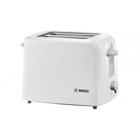 Тостер Bosch TAT 3A011 White 980Вт, механическое управление