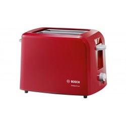 Тостер Bosch TAT 3A014 Red 980Вт, механическое управление