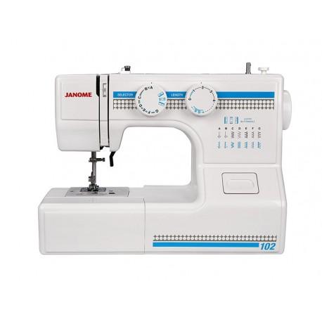 Швейная машина Janome 102 электромеханическое управ., реверс, 15 операции, свет