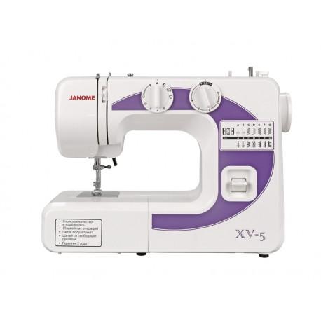 Швейная машина Janome XV-5 электромеханическое управ., реверс, 14 операций, свет