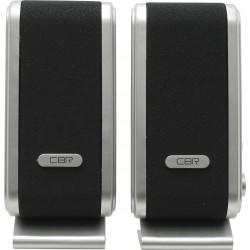 Актив.колонки 2.0 CBR CMS-299 6Вт, питание от USB, пластик, Black/Silver