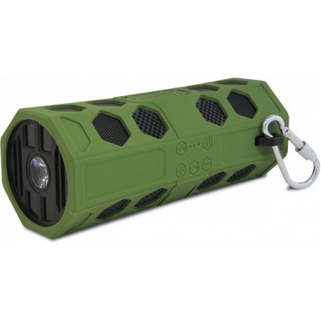Портативная акустика CBR CMS 181 10Вт, Bluetooth, microSD, фонарик, карабин, от батарей, Khaki