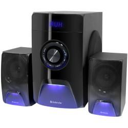 Актив.колонки 2.1 Defender X500 50Вт, Bluetooth, FM, SD/USB, питание от сети, MDF, Black