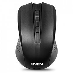Мышь беспроводная Sven RX-300 оптическая, 1000dpi, радиус действия до 10м, Black