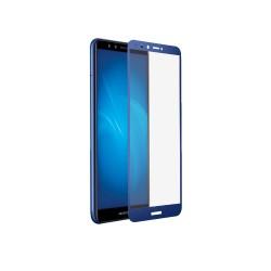 Защитное стекло для Huawei Honor 7A Pro/Y6 (2018)/Honor 7C/Y6 Prime (2018) с цветной рамкой (fullscreen +fullglue) DF hwColor-54 (blue)