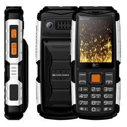"Сотовый телефон BQ BQ-2430 Tank Power BlackSilver (2sim/2.4""/240*320/32Mb/microSD/0.3Мп/Bt/4000мАч)"