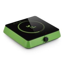 Плита настольная Kitfort КТ-113-2 Green 1600Вт, конфорок-1, упр. механическое, индукция