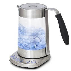 Чайник Kitfort КТ-601 Silver (2500Вт,1.7л,металл/стекло,закрытая спираль)