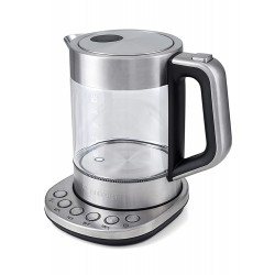 Чайник Kitfort КТ-616 Silver (2200Вт,1.5л,стекло,закрытая спираль)
