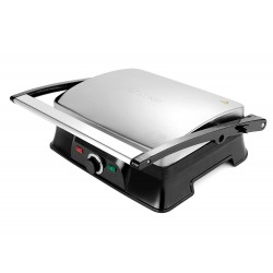 Гриль Kitfort КТ-1627 Silver/black 2000Вт, антипригарное покрытие