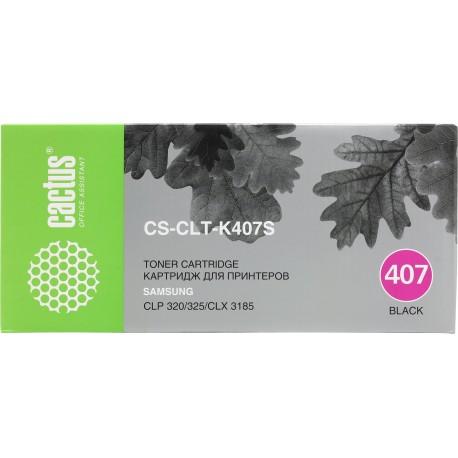 Картридж лазерный Cactus CS-CLT-K407S для Samsung CLP-325 CLX-3185 черный (1500 стр)