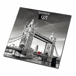Весы Endever FS-541 Рисунок Лондон cтекло, точность 0,1кг, макс. 150кг, авто вкл/выкл
